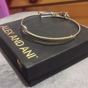 Silver Alex and Ani Feather Bracelet!